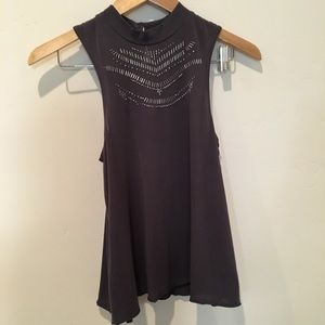 A&F high neck beaded tank top
